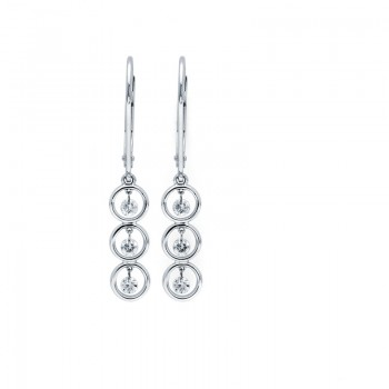 Shimmering Diamonds® Stacked Circles Earrings G8703