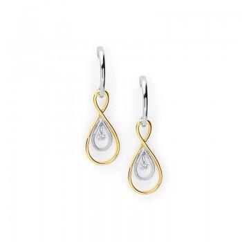 Shimmering Diamonds® Twisted Tear Drop Earrings SD12E03