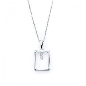 Shimmering Diamonds® Rectangle Pendant SD12P02