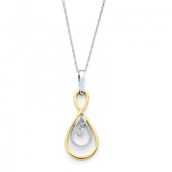Shimmering Diamonds® Twisted Tear Drop Pendant SD12P03