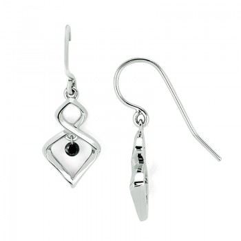 Shimmering Diamonds® Twisted Tear Drop Earrings SD13E11BK