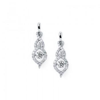 Shimmering Diamonds® Woven Tear Drop Earrings SD13E30/.50