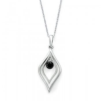 Shimmering Diamonds® Tear Drop Pendant SD13P10BK