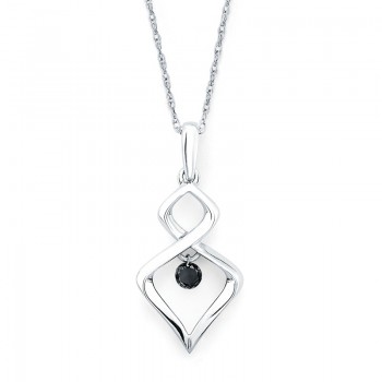 Shimmering Diamonds® Twisted Tear Drop Pendant SD13P11BK