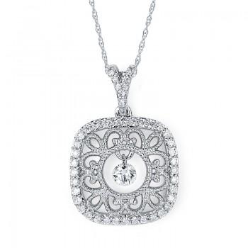 Shimmering Diamonds® Scroll Pendant SD13P16