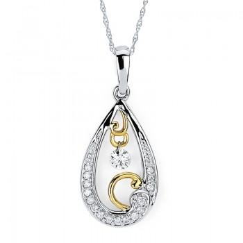 Shimmering Diamonds® Tear Drop Pendant SD13P18