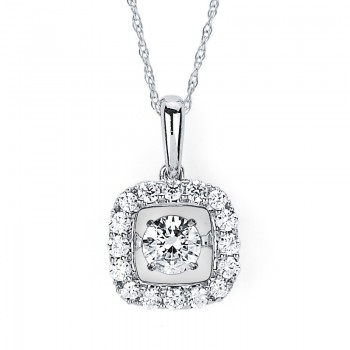 Shimmering Diamonds® Square Pendant SD13P29/.50