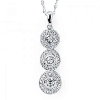 Shimmering Diamonds® Stacked Circle Pendant SD14P35/.50