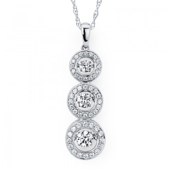 Shimmering Diamonds® Stacked Circle Pendant SD14P35/1.00