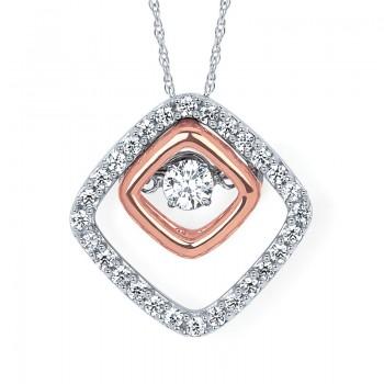 Shimmering Diamonds® Embedded Diamond Pendant SD14P64