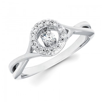 Shimmering Diamonds® Twisted Circle Ring SD15F88