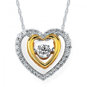 Shimmering Diamonds® Embedded Heart Pendant SD15P06