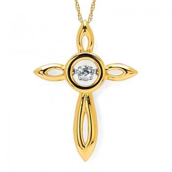 Shimmering Diamonds® Circle Cross Pendant SD15P20