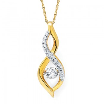 Shimmering Diamonds® Twisted Tear Drop Pendant SD15P24