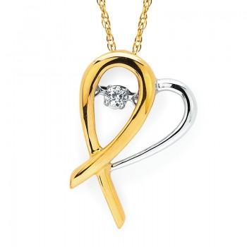 Shimmering Diamonds® Hopeful Heart® Pendant SD15P27/.05