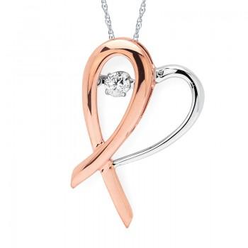 Shimmering Diamonds® Hopeful Heart® Pendant SD15P27/.10