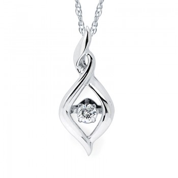 Shimmering Diamonds® Twisted Tear Drop Pendant SD15P55