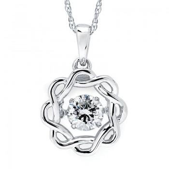 Shimmering Diamonds® Sunflower Pendant SD15P77/.50
