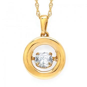 Shimmering Diamonds® Circle Pendant SD15P79/.50