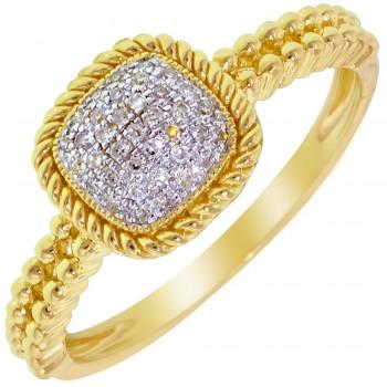 Dabakarov Diamond Fashion Ring in 14kt Yellow Gold (1/10ct tw)