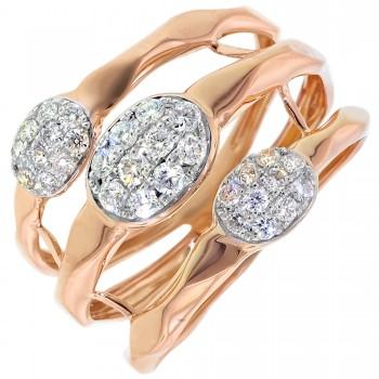 Dabakarov Diamond Fashion Ring in 14kt Rose Gold (3/8ct tw)
