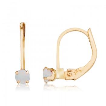 14k Opal Leverback Earrings