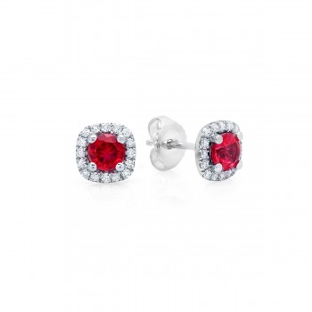 Something Special Ruby and Diamond Stud Earrings