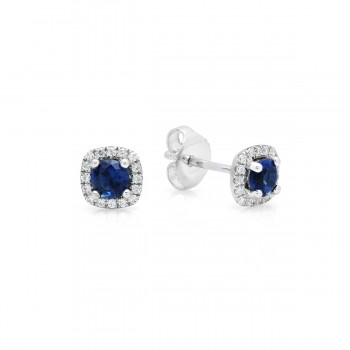 Something Special Sapphire and Diamond Stud Earrings