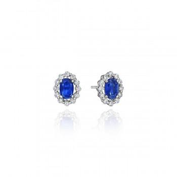 Minimalist Magic Sapphire and Diamond Studs