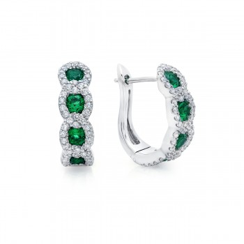 Leave It To Fate Emerald and Diamond Hoop Earrings