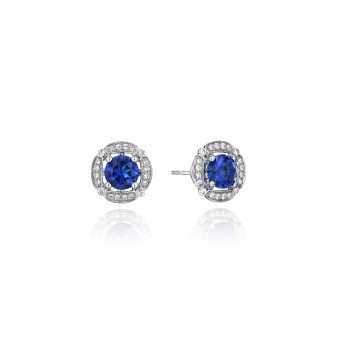 From Dawn to Dusk All-Occasion Sapphire and Diamond Studs