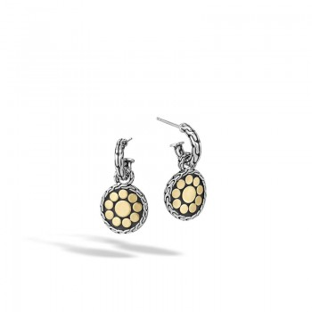 Dot Small Round Hoop Drop Earrings