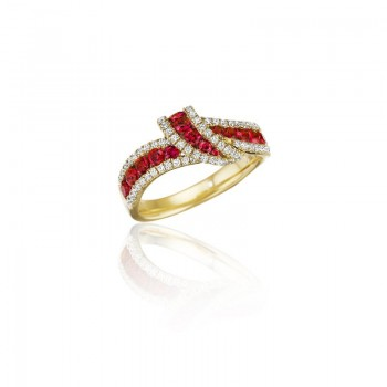 Wrap Me Up Ruby and Diamond Twist Ring