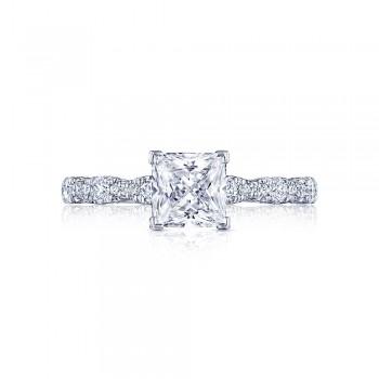 Tacori HT2559PR6 Platinum Tacori Petite Crescent Engagement Ring