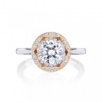Tacori HT2569RD7PK 18 Karat Two-Tone Crescent Chandelier Engagement Ring