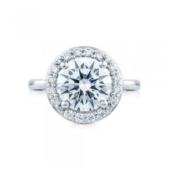 HT2651RD95 Platinum Tacori RoyalT Engagement Ring