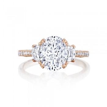 Tacori HT2655OV95X75PK 18k Rose Gold Ladies Engagement Ring