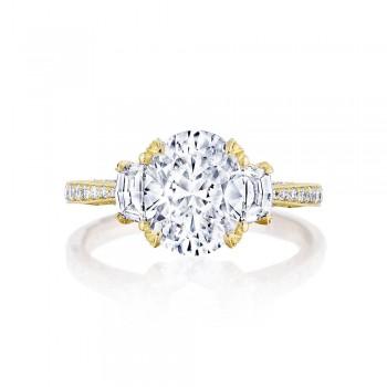 Tacori HT2655OV95X75Y 18 Karat RoyalT Engagement Ring