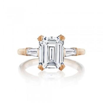 Tacori HT2657EC95X75PK 18 Karat RoyalT Engagement Ring