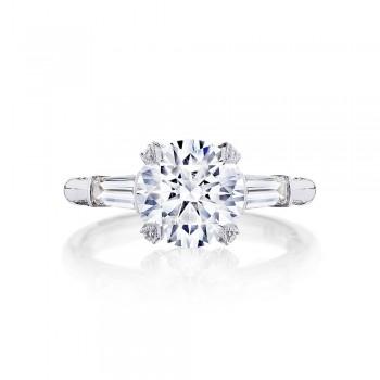 HT2657RD85 Platinum Tacori RoyalT Engagement Ring