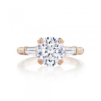 Tacori HT2657RD85PK 18 Karat RoyalT Engagement Ring