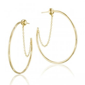 The Melissa Chain-Linked Hoop Earrings
