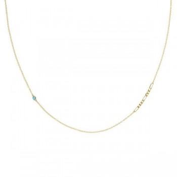 It Figaros Gem Necklace w/ Swiss Blue Topaz