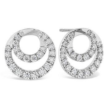 Optima Diamond Circle Earrings
