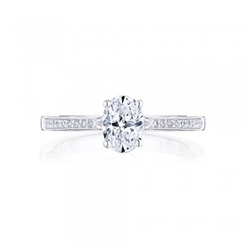 Tacori P102OV7X5FW 14 Karat Coastal Crescent Engagement Ring