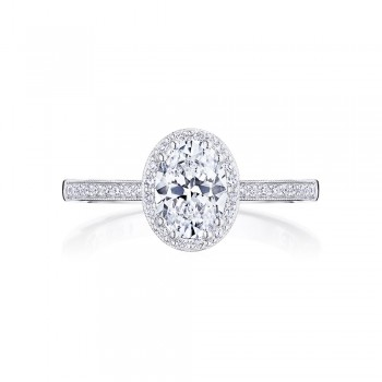 Tacori P103OV75X55FW 14 Karat Coastal Crescent Engagement Ring