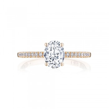 Tacori P104OV75X55FPK 14 Karat Coastal Crescent Engagement Ring
