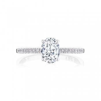 Tacori P104OV75X55FW 14 Karat Coastal Crescent Engagement Ring