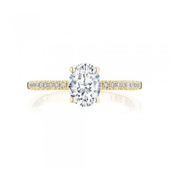 Tacori P104OV75X55FY 14 Karat Coastal Crescent Engagement Ring