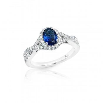 Look of Love Sapphire and Diamond Criss-Cross Ring